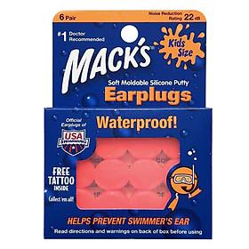 Hộp 6 Đôi Nút Bịt Tai Pillow Soft® Cho Trẻ Em Mack's #10-Tat