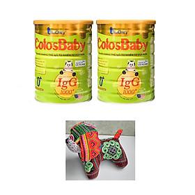 2 hộp sữa non Colosbaby gold 0+ (800g) tặng kèm chú chó nhồi bông dễ thương