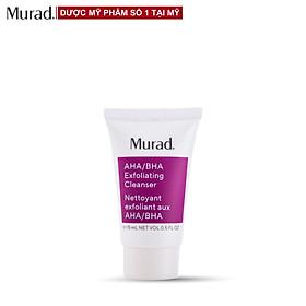 Sữa rửa mặt & Tẩy tế bào chết Murad AHA/BHA Exfoliating Cleanser 15ml