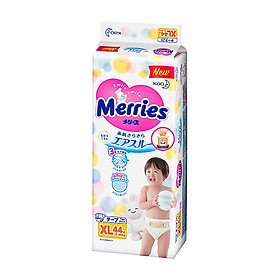 Combo 2 Tã Dán Merries XL44 tặng khăn tắm sợi tre hình thỏ đáng yêu và đồ chơi tắm Toys House-1