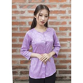 Áo Bà Ba Màu Light Violet
