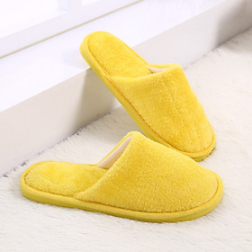 Plush Slippers Home Use Cotton Anti-skidding Baboosh Indoor Warm-Keeping Comfortable Couples Chinela