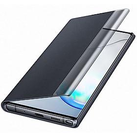 Bao da Clear View cho Samsung Galaxy note 10 màu trắng - hàng nhập khẩu