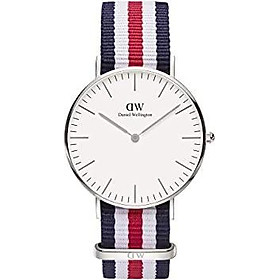 Daniel Wellington Classic Canterbury Silver Watch, 36mm, Nato, for Men and Women