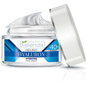 Kem dưỡng ẩm sáng da Bielenda Neuro Hyaluron Moisturizing Anti Wrinkle Cream Concentrate 40+ Day Night - 50ml