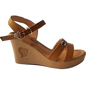 Giày Sandal Nữ Đế Xuồng BIGGBEN Da Bò Thật SDX18