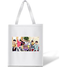 Túi tote vải in hình nhóm BTS We Love BTS