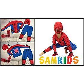 Bộ siêu nhân nhện mùa thu kèm mặt nạ và găng tay cho bé