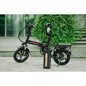 Xe điện thông minh thể thao siêu gấp gọn homesheel FTN T5s phiên bản 10 AH-hàng chính hãng-màu đen