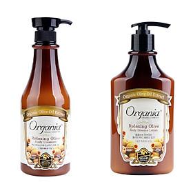 Combo sữa tắm 750g và sữa dưỡng thể 400g chiết xuất từ olive Ogrania