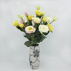 Hoa lụa cao cấp trang trí nhà cửa, bình hoa lan tường