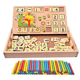 Bảng số bằng gỗ học toán có que tính