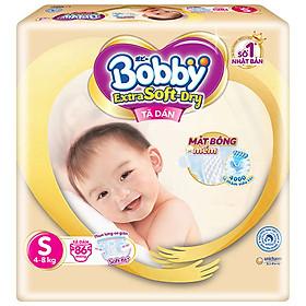 Tã dán cao cấp Bobby Extra Soft Dry S86 (86 miếng)