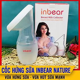 Cốc Hứng Sữa Silicon Inbear Nature (IBC - 7100), Vừa Hứng Vừa Hút Sữa, Dính Bám Chắc Không Cần Giữ Tay, Hứng Được Cả Khi Nằm Không Bị Rơi