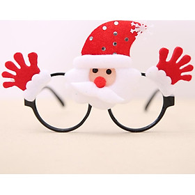 Christmas Eye Glass Eyewear Eyeglass Snowman Santa Claus Pattern Ornament Props