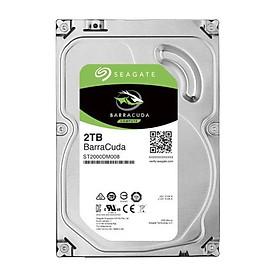 Ổ Cứng HDD Seagate BarraCuda 2TB/64MB/3.5 ST2000DM008 - Hàng Chính Hãng
