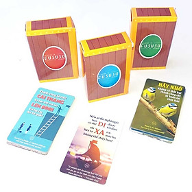 Combo 3 Hòm Kho Báu - 156 Bookmark Độc Đáo Hơn 10 Công Dụng - Các Câu Nói Hay Tạo Động Lực Mạnh Mẽ - Hình Ảnh Châm Ngôn Ý Nghĩa Về Cuộc Sống - Fususu Cards Cực Sáng Tạo Và Dễ Thương