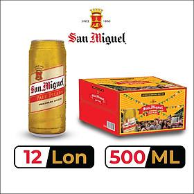 Thùng 12 Lon Bia SAN MIGUEL Pale Pilsen 500 ml