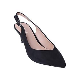 Giày Sandal Mũi Nhọn Gót Nhọn Scala SCL SN02 - Đen