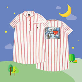 BT21 x HUNT Short Sleeve One-piece Tata HIYO91201T