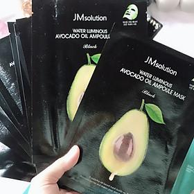 Hộp 10 Mặt Nạ Bơ JM Solution Water Luminous Avocado Oil Ampoule 30ml x 10