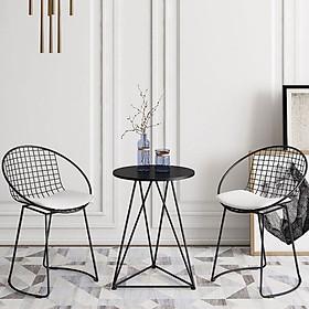Bộ bàn ghế ban công, sân vườn (3 màu : vàng đồng, trắng , đen) - Giao mẫu ngẫu nhiên