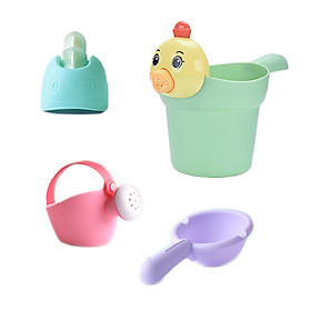 COMBO 4 Đồ Chơi Nhà Tắm Cho Bé, Nhựa Cao Cấp, An Toàn Cho Trẻ Nhỏ