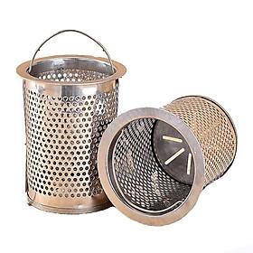 Bộ 2 rổ lọc rác bồn rửa chén inox 304 cao cấp