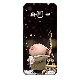 Ốp lưng nhựa cứng nhám dành cho Samsung Galaxy J3 2016 in hình Heo Nguyện Ước