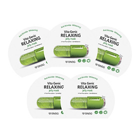 Combo 5 Mặt nạ dưỡng ẩm Banobagi Vita Genic Relaxing Jelly Mask (Vitamin B) 30ml x5
