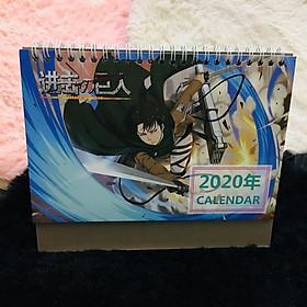 Lịch anime chibi 2020 Atack on Titan Đại chiến Titan tặng thẻ Vcone