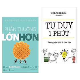 Combo 2 Cuốn Sách Thay Đổi Tư Duy Tâm Đắc : Phần Thưởng Lớn Hơn + Tư Duy 1 Phút (Tặng kèm Bookmark thiết kế AHA)