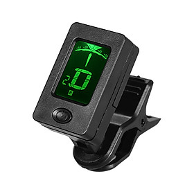 Mini Clip-On Tuner LCD Display Multifunctional Digital Tuners for Chromatic/ Guitar/ Bass/ Violin/ Ukulele (Black)