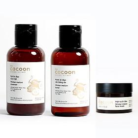 Bộ 3 Chăm sóc da cocoon: Gel rửa mặt  bí đao 140ml + Toner bí đao 140ml + Mặt nạ bí đao 30ml