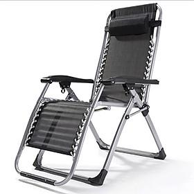 Ghế xếp thư giãn, ghế bố thông minh K171 – Màu đen