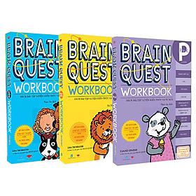 Combo 3 cuốn Braint Quest Worrkbook dành cho bé từ 4 - 7 tuổi