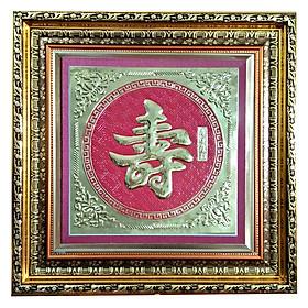Tranh Chữ Thọ - (70 x 70 cm)