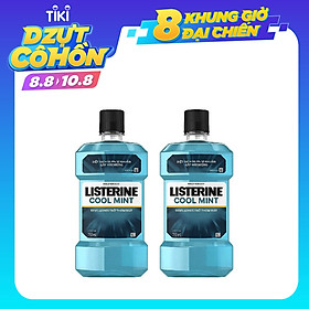 Combo 2 Nước Súc Miệng Hương Bạc Hà Listerine Cool Mint (750ml/Chai)