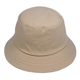 Nón bucket trơn đơn giản dễ phối đồ, chất liệu vải mềm mại, vành rộng chống nắng tốt