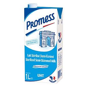 Thùng 12 Hộp Sữa Tươi Ít Béo Promess (1L /Hộp)