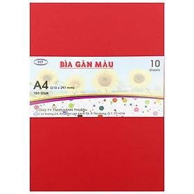 Bìa Gân A4 HT 180gsm - Màu Đỏ