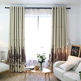 Rèm che nắng rèm vải treo cửa nhà phố nâu mẫu mới (nhiều size)