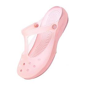 Sandal nữ nhựa trong suốt, đế mềm siêu êm