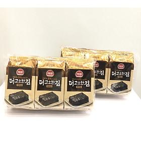Lốc 6 gói Rong biển tẩm dầu tía tô Sajo Haepyo (5g/gói) / Combo 2 lốc
