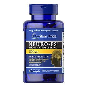 Thực Phẩm Chức Năng - Viên Uống Tăng Cường Tuần Hoàn Não, Cải Thiện Trí Nhớ Puritan'S Pride Neuro-Ps Gold (90 Viên)