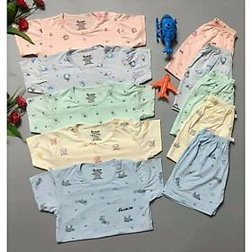 Bộ quần áo CỘC TAY cotton thun lạnh A3 Minky mom cho bé sơ sinh bé trai bé gái từ 0-18 tháng (Giao mẫu ngẫu nhiên)