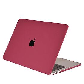 Ốp lưng nhựa nhám màu Đỏ Đô bảo vệ cho Macbook đủ dòng