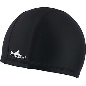 Mũ Bơi Chất Liệu Vải Nylon English Hair Yingfa - Đen