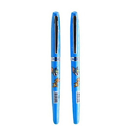 Combo 2 Bút máy ngòi mài E011 màu xanh