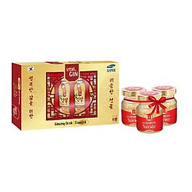 Hộp Nước Nhân Sâm Hàn Quốc Vital Gin Diamond (6 chai x 120ml) tặng 3 lọ YTV